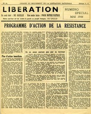 Libération-sud - Image: Libération Sud May 1944