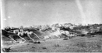 Eden Terrace - Looking east from Arch Hill towards Eden Terrace, circa 1860–1880