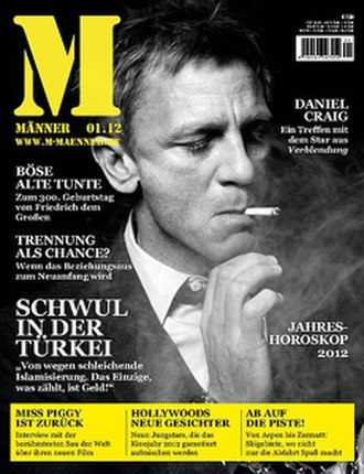 Männer (magazine) - Cover of the January 2012 edition