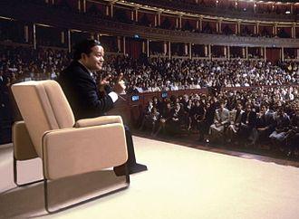 Prem Rawat - 12 October 1981. Prem Rawat speaking at the Royal Albert Hall, London