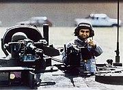 Michael Dukakis on tank