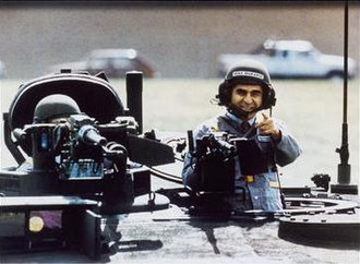 1988 United States presidential election - Michael Dukakis on tank