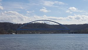 Moundsville Bridge - The Moundsville Bridge in 2016