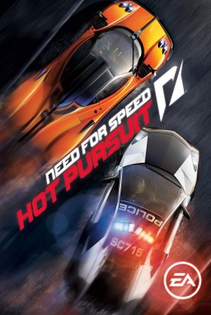 Need for Speed: Hot Pursuit (2010 video game) - European cover art featuring a Pagani Zonda Cinque (Racer) and a Lamborghini Reventón (Cops)
