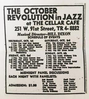 October Revolution in Jazz Jazz festival in NYC in 1964