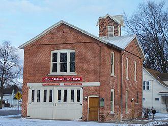 Milan, Michigan - The old Milan Fire Barn