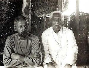 Otto Tetens -  Otto Tetens with Mataafa in Mulinuu, Samoa 1904
