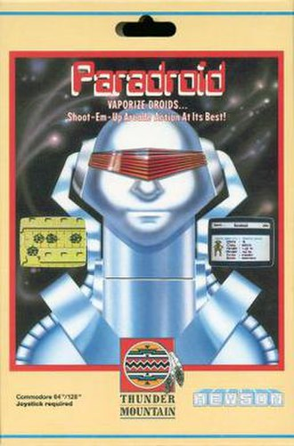Paradroid - European cover art