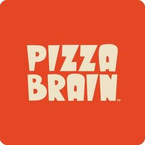 Pizza Brain - Image: Pizza brain restaurant square logo design