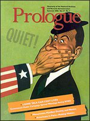 Prologue (magazine) - Prologue magazine, Summer 2005 cover