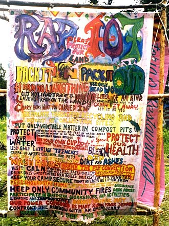 "Rainbow Gathering - ""Rap 107,"" concise Gathering participation principles"