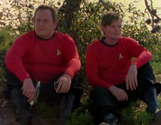 Redshirt Blues - Erik Hill (Leeds) at left and Jack P. Dempsey (Averson) at right