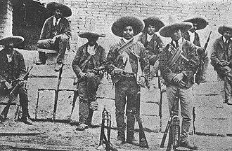 Rurales - A detachment of Rurales in field uniform during the Diaz era.