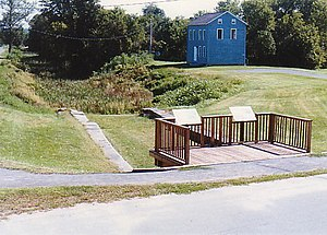 Schoharie Crossing State Historic Site - The East Guard Lock and Original Erie Canal Prism remain at Schoharie Crossing State Historic Site