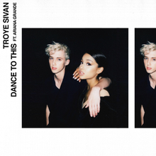 A high exposure polaroid-like still of Sivan and Grande