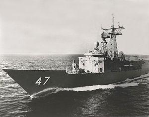 USS Nicholas (FFG-47) - USS Nicholas during her acceptance trials in 1984