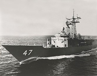 USS Nicholas (FFG-47) - USS Nicholas during her acceptance trials in 1984