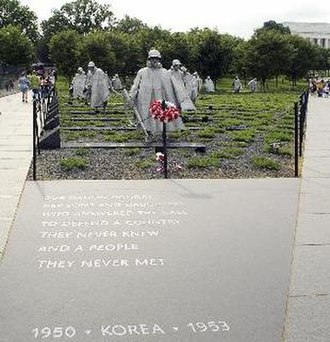 Sculpture of the United States - Photograph of Frank Gaylord's Korean War Veterans Memorial sculpture