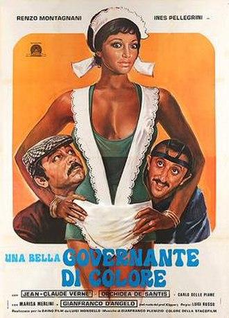 Una bella governante di colore - Italian theatrical release poster