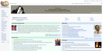 Uncyclopedia - Image: Uncyclopedia screenshot