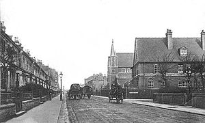 History of Harringay (1880–present) - Wightman Road in 1906.