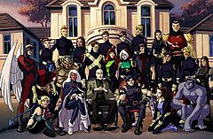 The entire X-Men roster as seen in the series finale.