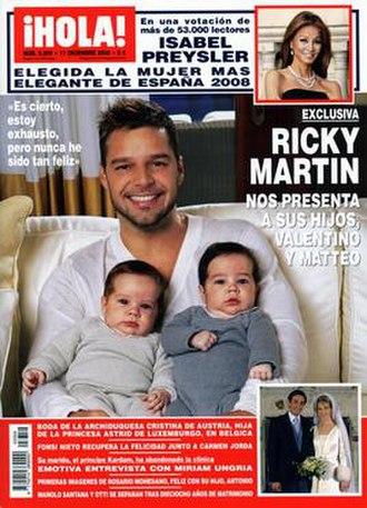 ¡Hola! - Image: ¡Hola! (magazine) cover