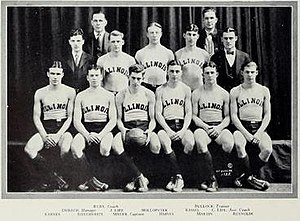 1924–25 Illinois Fighting Illini men's basketball team - Image: 1924 25 Fighting Illini men's basketball team