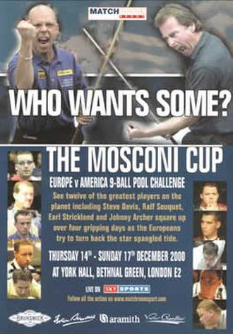 2000 Mosconi Cup - Image: 2000 Mosconi Cup Poster