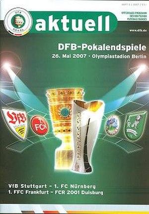 2007 DFB-Pokal Final - Image: 2007 DFB Pokal Final programme