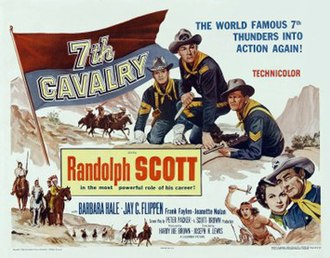 7th Cavalry (film) - Theatrical release poster