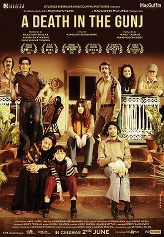 A Death in the Gunj - Festival Poster for A Death in the Gunj.