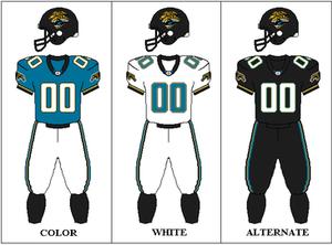 2002 Jacksonville Jaguars season - Image: AFCS 2002 Uniform JAX