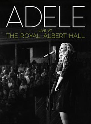 Live at the Royal Albert Hall (Adele album) - Image: Adele Live At The Royal Albert Hall Cover