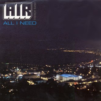 All I Need (Air song) - Image: Air All I Need single