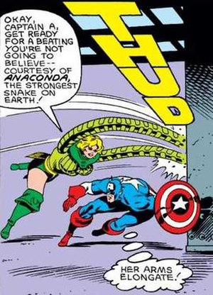 Anaconda (comics) - Anaconda pummels Captain America.