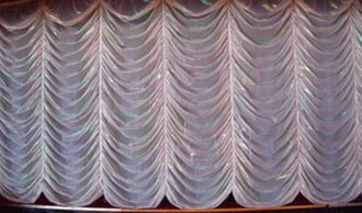 Theater drapes and stage curtains - Austrian curtain.