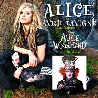 Alice (Avril Lavigne song) - Image: Avril Lavigne Alice Single Cover