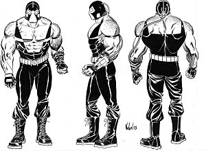Bane (comics) - Concept art of Bane; by Graham Nolan