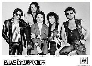Imaginos - The line-up of Blue Öyster Cult in 1988: Allen Lanier, Jon Rogers, Buck Dharma, Ron Riddle, Eric Bloom