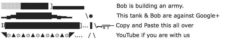 Bob-google-plus-ascii-art-protest-comment