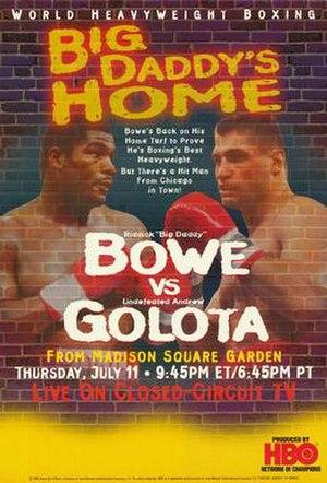 Riddick Bowe vs. Andrew Golota - Image: Bowe vs Golota