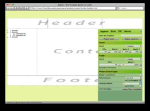 ELML - Screenshot of the eLML Template Builder