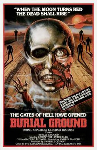 Burial Ground (film) - American poster for Burial Ground