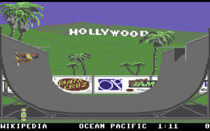 California Games - Screenshot of California Games for the Commodore 64.