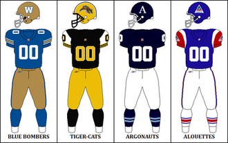 2010 CFL season - East Division Retro Jerseys