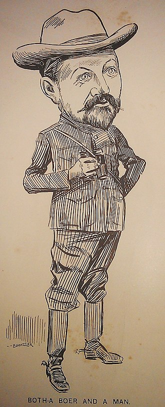 Louis Botha - Image: Caricature of Louis Botha by D. C. Boonzaier, 1901