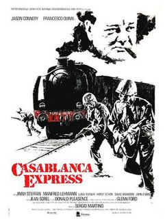 <i>Casablanca Express</i> 1989 action war film starring Jason Connery directed by Sergio Martino