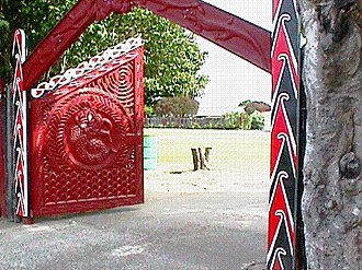 Tūrangawaewae - Ceremonial gates at Tūrangawaewae