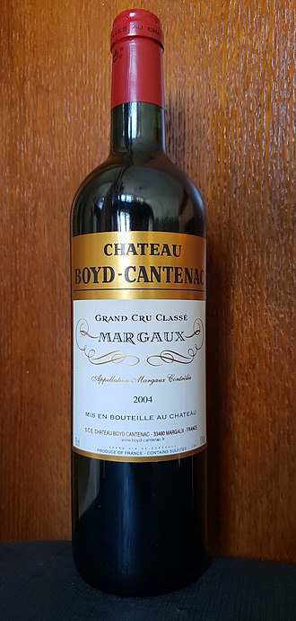 Château Boyd-Cantenac - A bottle of Grand vin 2004